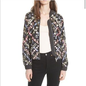 Needle & Thread embroidered floral bomber jacket